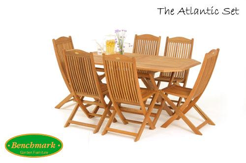 Atlantic 6 Seater Set With Parasol.